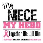 My Niece My Hero Breast Cancer Shirts & Gifts