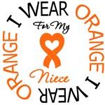 I Wear Orange Ribbon Niece Leukemia Shirts