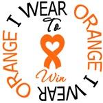 I Wear Orange To Win Leukemia Shirts