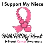 Breast Cancer I Support My Niece T-Shirts & Gifts