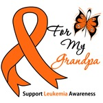 Leukemia Ribbon For My Grandpa Shirts & Gifts