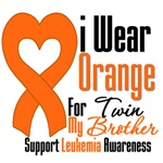 Leukemia I Wear Orange For My Twin Brother Shirts