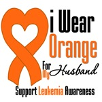 Leukemia I Wear Orange For My Husband Shirts