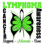 Butterfly Lymphoma Awareness T Shirts and Gifts