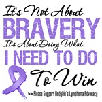 Hodgkin's Lymphoma Bravery T-Shirts and Gifts