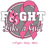 Boxing Gloves Breast Cancer Fight Like a Girl