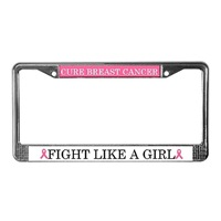Fight Like a Girl Cancer License Plate Frames