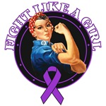 Fight Like a Girl Rosie Riveter Pancreatic Cancer