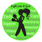 Fight Like a Girl Collage Lymphoma Shirts