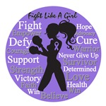 Stylish Fight Like a Girl Hodgkin's Disease Shirts