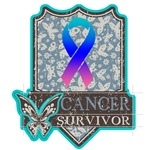 Survivor - Thyroid Cancer Butterfly Ribbon Apparel