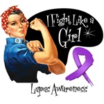 I Fight Like a Girl Rosie The Riveter Lupus Shirts