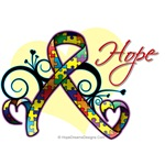 Hope Ribbon Autism Shirts and Gifts