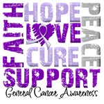 Collage Hope Cure General Cancer Shirts