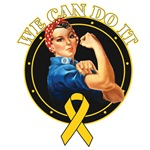 We Can Do It Childhood Cancer Shirts