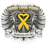 Hope Love Cure Childhood Cancer Shirts