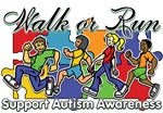 Walk or Run Autism Awareness Shirts and Gifts