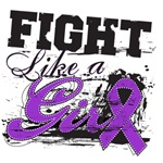 Fight Like a Girl Alzheimer's Disease Shirts