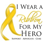 I Wear a Ribbon For My Hero Neuroblastoma Shirts