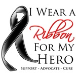 I Wear a Ribbon For My Hero Melanoma Shirts