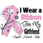 Girlfriend Pink Ribbon Breast Cancer Shirts