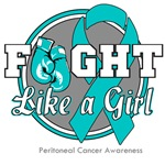 Fight Like a Girl Peritoneal Cancer Shirts