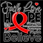 Faith Hope Heart Disease Shirts
