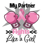 My Partner Fights Like a Girl Breast Cancer Shirts