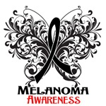 Butterfly Floral Melanoma Shirts and Gifts