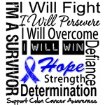 Colon Cancer Persevere Shirts 