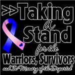 Taking a Stand Male Breast Cancer Shirts