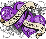 Pancreatic Cancer Survivor Double Heart Shirts