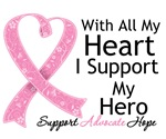 With All My Heart Support Breast Cancer Awareness