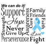 Prostate Cancer Supportive Words Shirts and Gifts