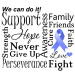 Esophageal Cancer Supportive Words Shirts