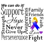 Bladder Cancer Supportive Words Shirts 