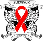 Blood Cancer Survivor Butterfly Strength Shirts