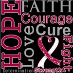 Hope Faith Courage Head Neck Cancer Shirts
