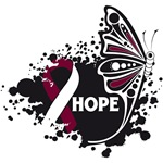 Hope Grunge Butterfly Head Neck Cancer Shirts