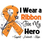 Multiple Sclerosis I Wear a Ribbon For My Hero