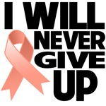 I Will Never Give Up Uterine Cancer Shirts