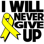 I Will Never Give Up Testicular Cancer Shirts