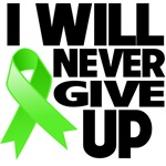 I Will Never Give Up Lymphoma Shirts