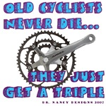 Old Cyclists Blue
