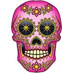 Sugar Skull Magenta Floral