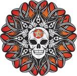 Goth Skull - Orange