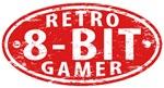 retro gamer emblem,8-bit,gamer,retro