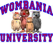 Wombania University Blue & Red