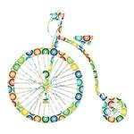 Retro Bicycle - circles