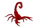 Scorpion red grunge